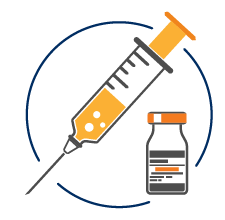graphic of a vial and a syringe